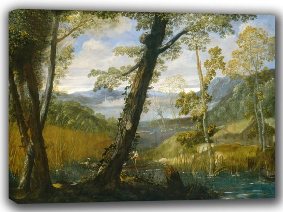 Carracci, Annibale: River Landscape. Fine Art Canvas. Sizes: A4/A3/A2/A1 (002056)